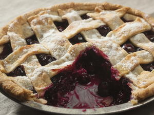 Blueberry Apple Lattice Pie