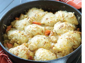 Biscuit-Topped Chicken and Root Vegetable Stew