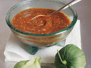Smoky Chipotle Salsa with Pan-Roasted Tomatillos