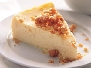 Yogurt Cheesecake with Pine Nut Brittle