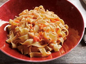 Tagliatelle with Chickpeas