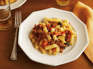 Fusilli with Sausage and Zucchini