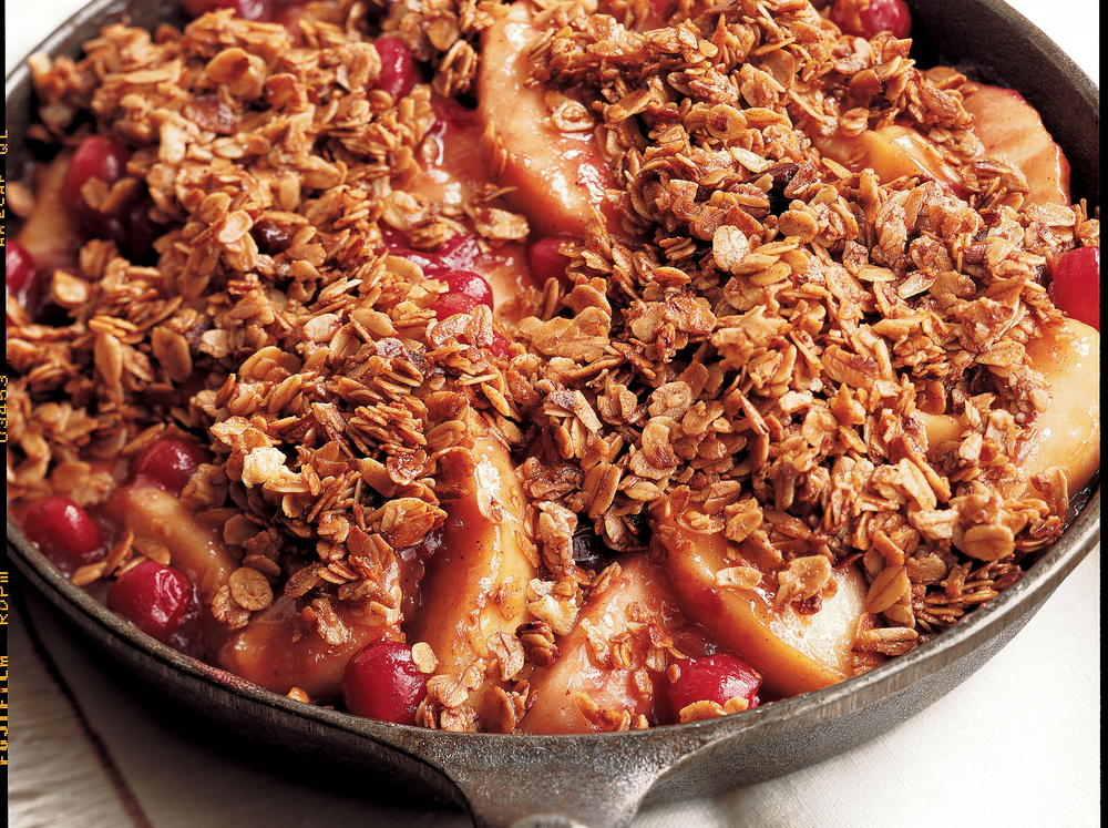Stovetop Apple-Cranberry Crumble | Cookstr.com