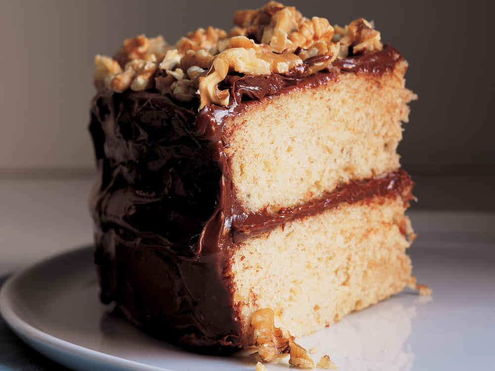Banana Layer Cake With Fudgy Frosting Or Tangy Vanilla