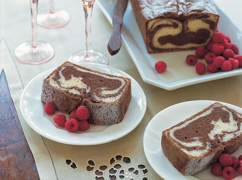 Yummy Marbled Pound Cake | Cookstr.com
