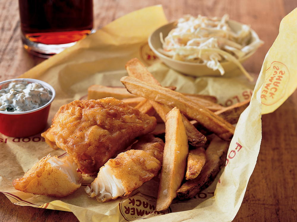 Beer battered fish and chips for Fish and chips batter recipe