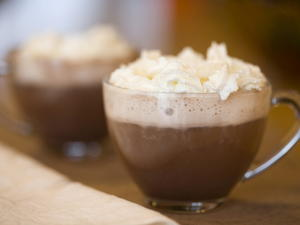 Hot Chocolate with Cinnamon Whipped Cream