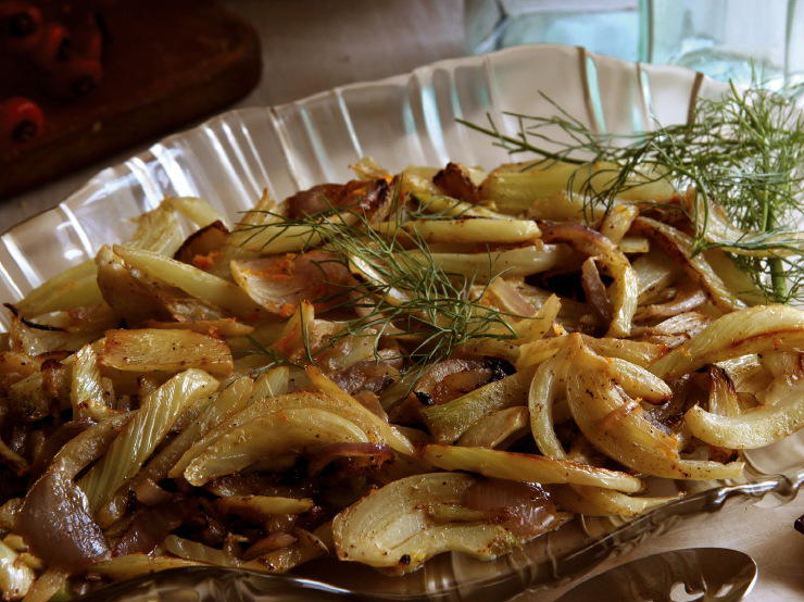 Caramelized Fennel and Onions with Orange Rind | Cookstr.com