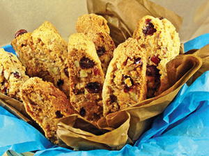 Cranberry-Orange-Pecan Biscotti