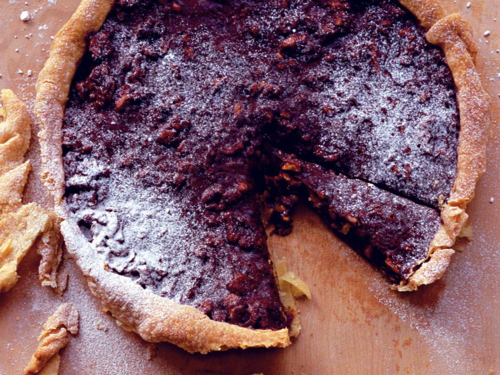 Walnut, Chocolate, and Honey Tart | Cookstr.com