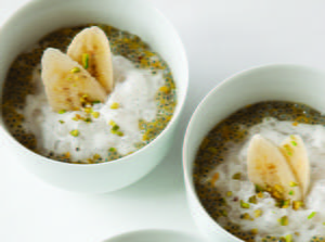 Sweet Basil Seed and Tapioca Pudding