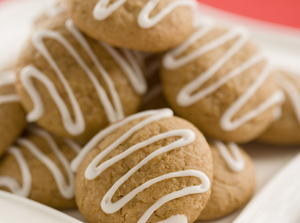 Ginger Drizzle Cookies