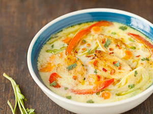 Cold Thai-Style Mango Coconut Soup with Mango Relish ...