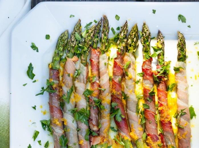 Prosciutto-Wrapped Asparagus with Citrus Vinaigrette ...