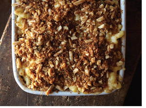 Almond-Crusted Macaroni and Cheese