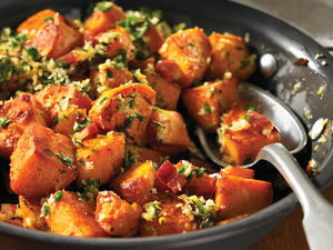 Pan-Fried Sweet Potatoes with Gremolata