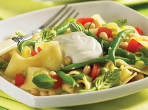 Summer Beans with Pappardelle