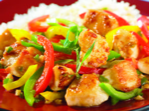 Chicken with Sweet and Hot Peppers