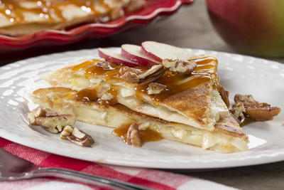 Caramel Apple Quesadilla