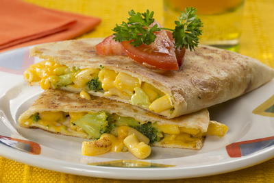 Mac and Cheese Quesadilla