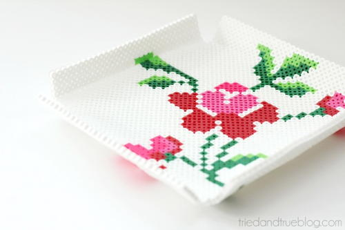 Fully Floral Perler Bead Tray
