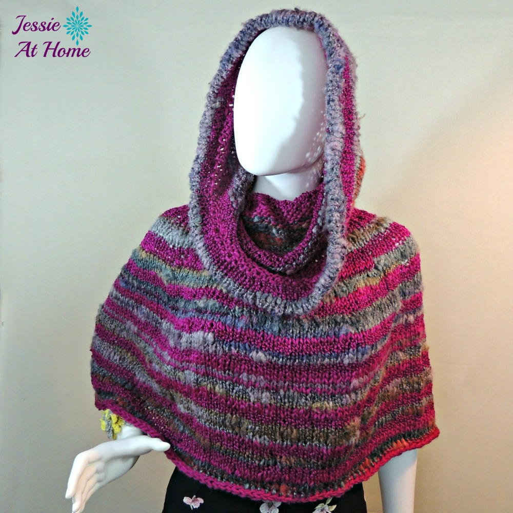 Free Knitting Pattern For Baby Poncho With Hood : Magical Hooded Poncho AllFreeKnitting.com