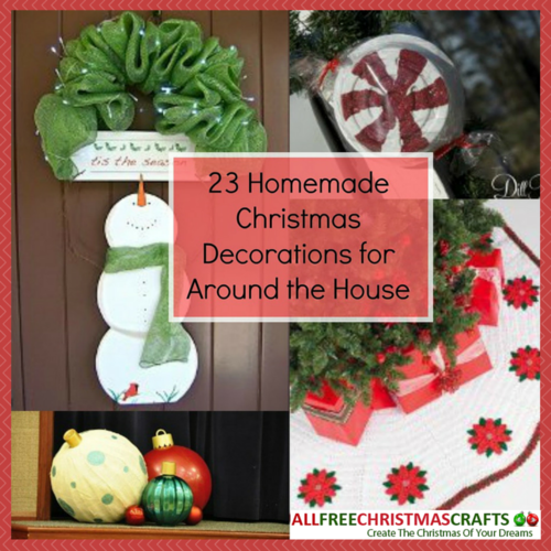 23 homemade christmas decorations for around the house for Christmas decorations near me