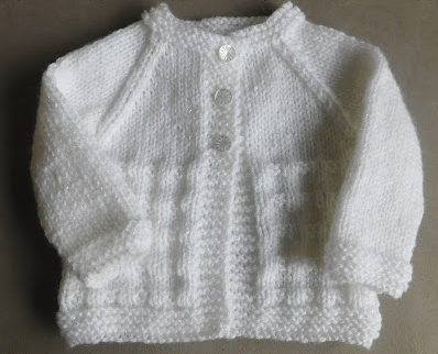 Simple Baby Cardigan Knitting Pattern : Charlie Baby Cardigan AllFreeKnitting.com
