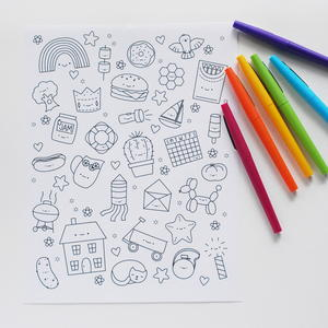 Whimsical Cuties Coloring Book Pages