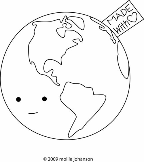 Earth Day Coloring Book Page