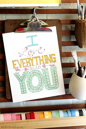 Everything About You Coloring Page