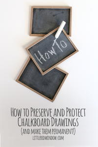 How to Preserve Chalkboard Drawings