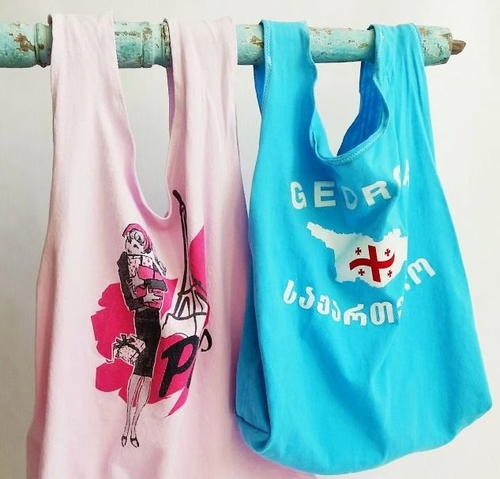 Upcycled t shirt tote bags for T shirt tote bag