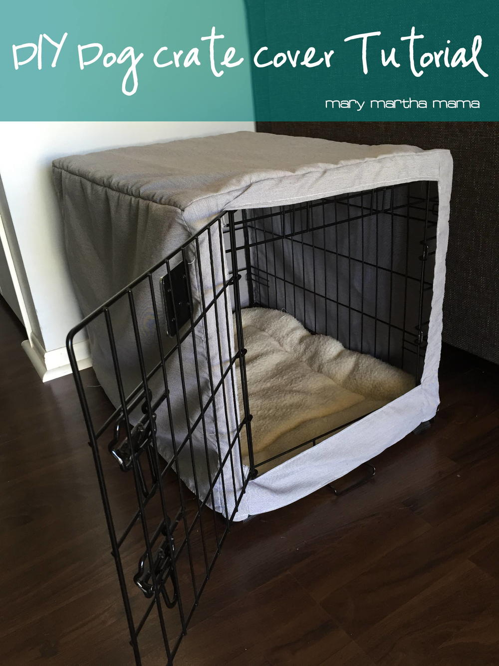 Dog Crate Cover Tutorial | AllFreeSewing.com