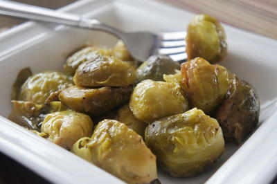 Mamas Maple Dijon Glazed Brussels Sprouts
