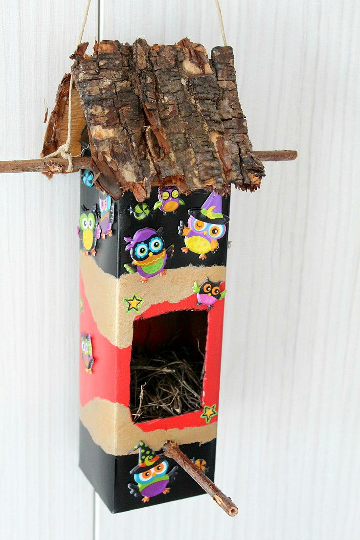 Diy Milk Carton Birdhouse Diyideacenter Com