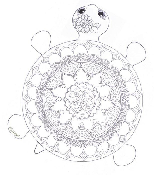Mandala Turtle Coloring Page FaveCrafts.com