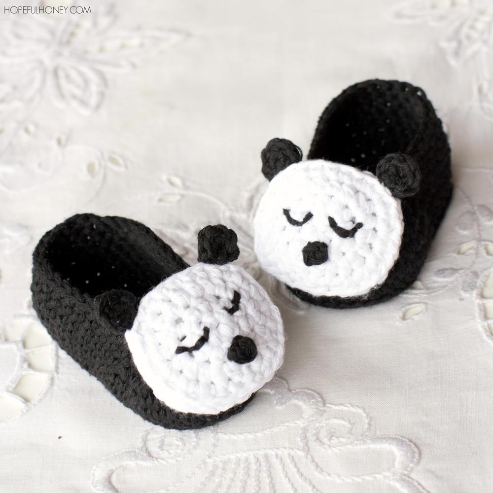 Sleepy Panda Baby Booties Allfreecrochet Com