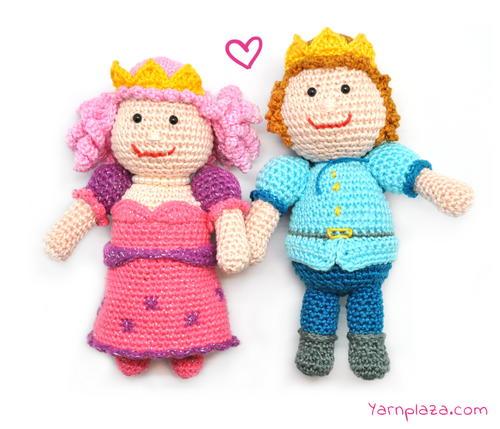 Prince and Princess Amigurumi AllFreeCrochet.com