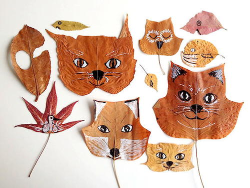 Leaf Animals Fall Craft Ideas