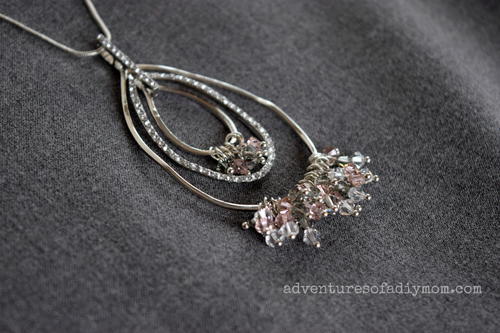 Pear Necklace with Swarovski Crystals