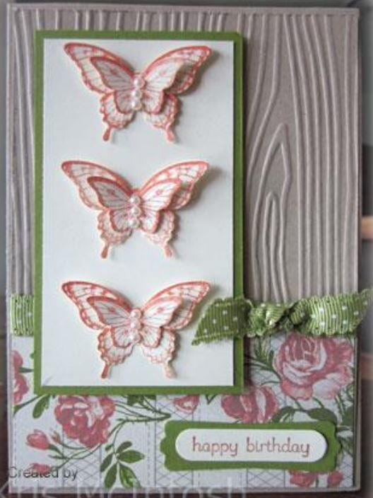 3D Butterfly Birthday Card AllFreePaperCrafts.com