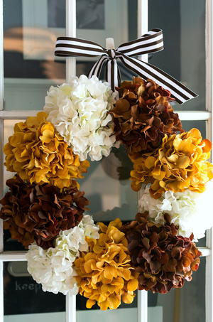Hydrangea DIY Fall Wreath
