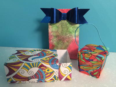 Coloring Book Pages Box and Bags