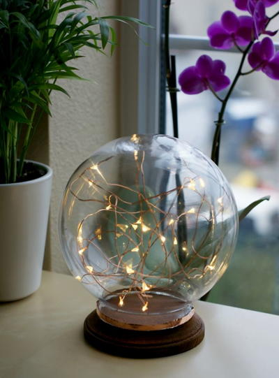 Globe Lamp DIY Home Decor