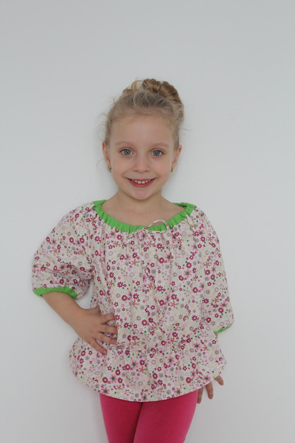 Girls Peasant Top Allfreesewing Com