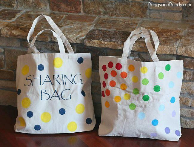 Stencil-Art DIY Tote Bags | AllFreeKidsCrafts.com