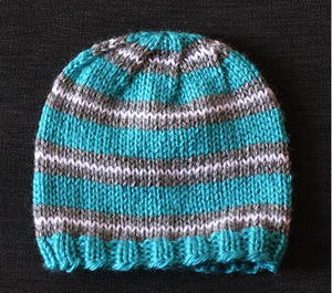 Striped Baby Hat Knitting Pattern