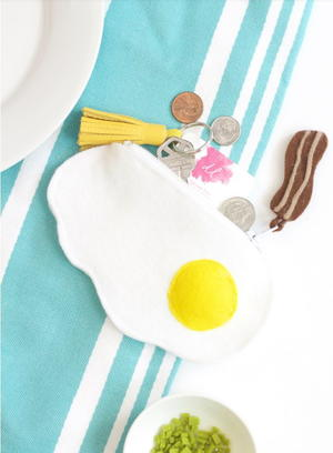 Fried Egg Zipper Pouch Tutorial