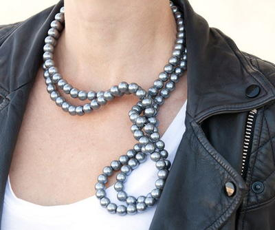 Unique Black Pearl Necklace
